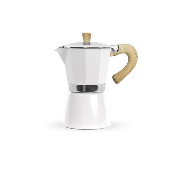 Sommarpaket med Moccakokare & Kaffe med tryck Vit