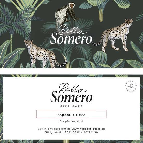 Bella Somero- Gåvokort med tryck Vit
