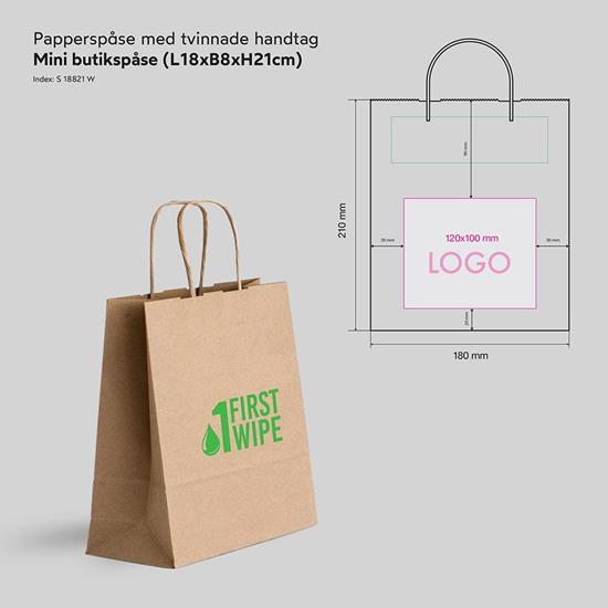 Bild på Papperspåse Butik Mini