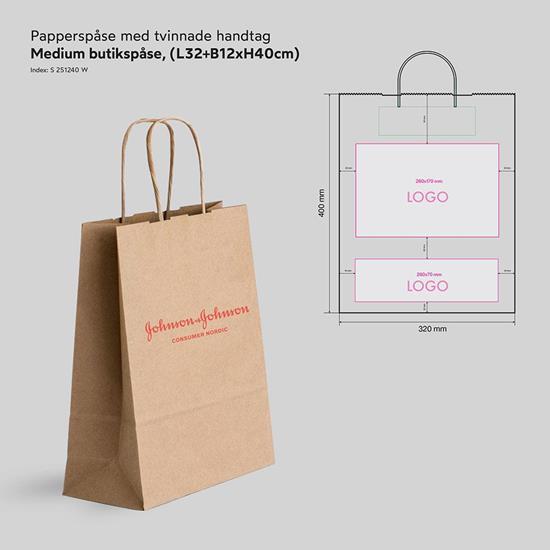 Bild på Papperspåse Butik Medium