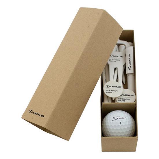 Golf Startkit Boll med tryck Vit