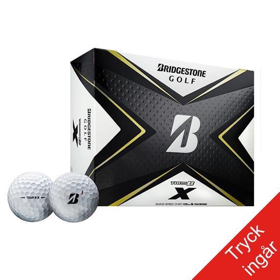 Golfboll - Bridgestone Tour B X med tryck Vit