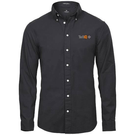 Perfect oxford shirt med tryck Svart