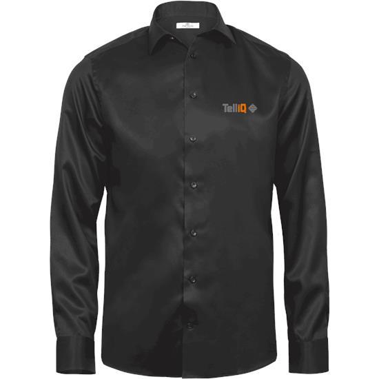 Luxury shirt comfort fit med tryck Svart