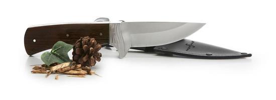 Vildmarkskniv SAGAFORM med tryck Silver