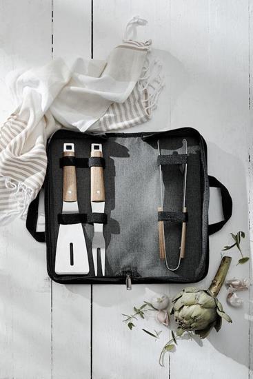 Bild på Gåvoset SAGAFORM BBQ set 3 delar med väska