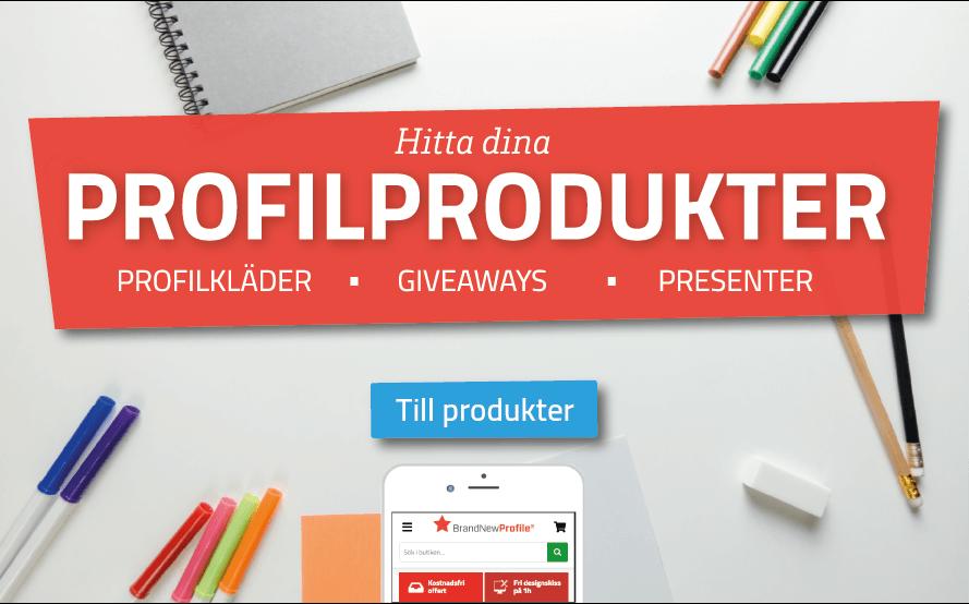 Profilprodukter med eget tryck