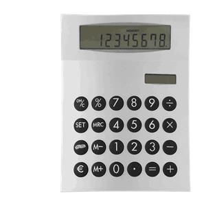 Miniräknare med tryck
